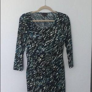 Dana Buchanan black blue print dress